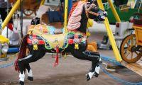Kézi festésű lófigura